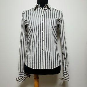 Club Monaco Women's Long Sleeve Stripe Size SP